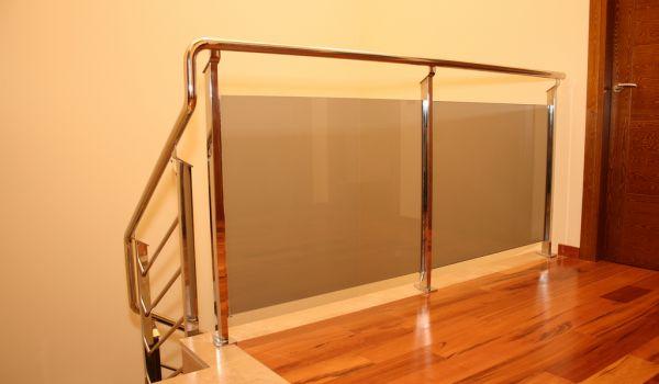 Barandilla acero inoxidable con vidrio laminado
